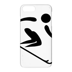 Alpine Skiing Pictogram  Apple Iphone 7 Plus Hardshell Case by abbeyz71