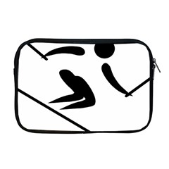 Alpine Skiing Pictogram  Apple Macbook Pro 17  Zipper Case by abbeyz71