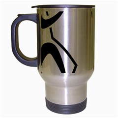 Mountaineering Climbing Pictogram  Travel Mug (silver Gray) by abbeyz71