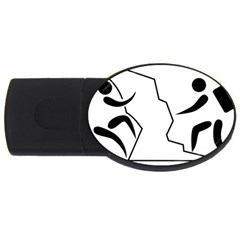 Mountaineering Climbing Pictogram  Usb Flash Drive Oval (4 Gb) by abbeyz71