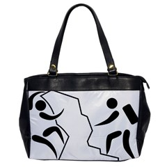 Mountaineering Climbing Pictogram  Office Handbags by abbeyz71