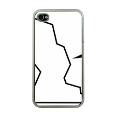 Mountaineering Climbing Pictogram  Apple Iphone 4 Case (clear) by abbeyz71