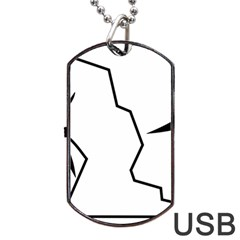 Mountaineering Climbing Pictogram  Dog Tag Usb Flash (one Side) by abbeyz71