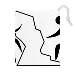 Mountaineering Climbing Pictogram  Drawstring Pouches (extra Large) by abbeyz71