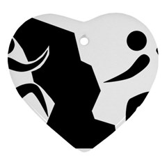 Mountaineering Climbing Pictogram  Ornament (heart) by abbeyz71