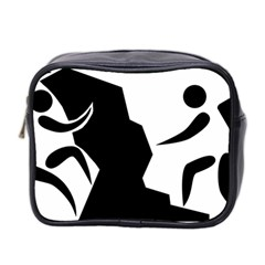 Mountaineering Climbing Pictogram  Mini Toiletries Bag 2 Side by abbeyz71