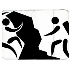 Mountaineering Climbing Pictogram  Samsung Galaxy Tab 7  P1000 Flip Case by abbeyz71