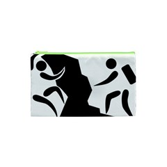 Mountaineering Climbing Pictogram  Cosmetic Bag (xs) by abbeyz71