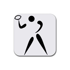 American Football Pictogram  Rubber Coaster (square)  by abbeyz71