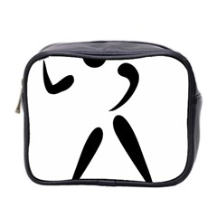 American Football Pictogram  Mini Toiletries Bag 2 Side by abbeyz71