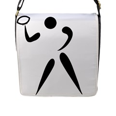 American Football Pictogram  Flap Messenger Bag (l)  by abbeyz71