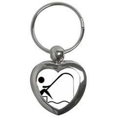Angling Pictogram Key Chains (heart)  by abbeyz71