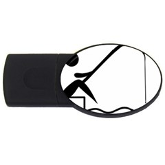 Angling Pictogram Usb Flash Drive Oval (4 Gb) by abbeyz71