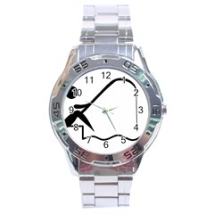 Angling Pictogram Stainless Steel Analogue Watch by abbeyz71
