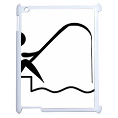 Angling Pictogram Apple Ipad 2 Case (white) by abbeyz71