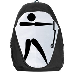 Archery (compound) Pictogram Backpack Bag by abbeyz71
