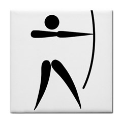 Archery Pictogram Tile Coasters by abbeyz71