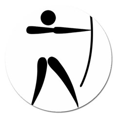 Archery Pictogram Magnet 5  (round) by abbeyz71