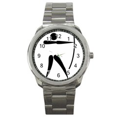 Archery Pictogram Sport Metal Watch by abbeyz71