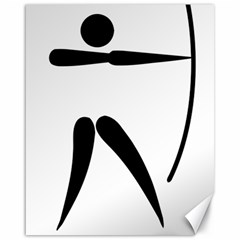 Archery Pictogram Canvas 16  X 20   by abbeyz71
