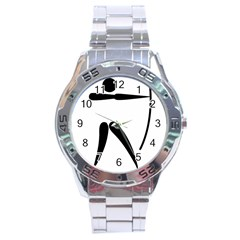 Archery Pictogram Stainless Steel Analogue Watch by abbeyz71