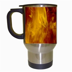 Ablaze Abstract Afire Aflame Blaze Travel Mugs (white) by Amaryn4rt