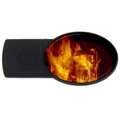 Ablaze Abstract Afire Aflame Blaze Usb Flash Drive Oval (4 Gb) by Amaryn4rt