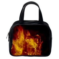 Ablaze Abstract Afire Aflame Blaze Classic Handbags (one Side) by Amaryn4rt