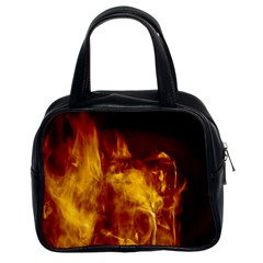 Ablaze Abstract Afire Aflame Blaze Classic Handbags (2 Sides) by Amaryn4rt