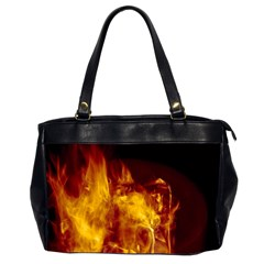 Ablaze Abstract Afire Aflame Blaze Office Handbags (2 Sides)