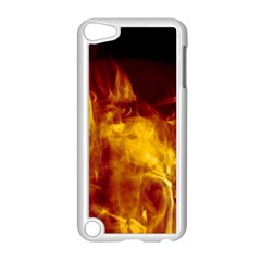 Ablaze Abstract Afire Aflame Blaze Apple Ipod Touch 5 Case (white) by Amaryn4rt