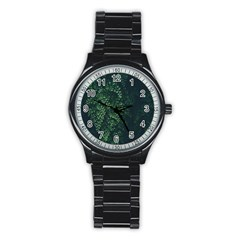 Abstract Art Background Biology Stainless Steel Round Watch