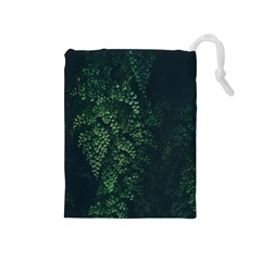 Abstract Art Background Biology Drawstring Pouches (medium)