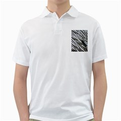 Abstract Background Geometry Block Golf Shirts