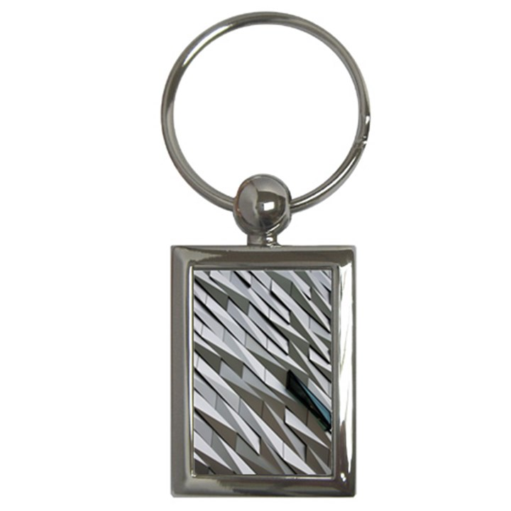Abstract Background Geometry Block Key Chains (Rectangle)