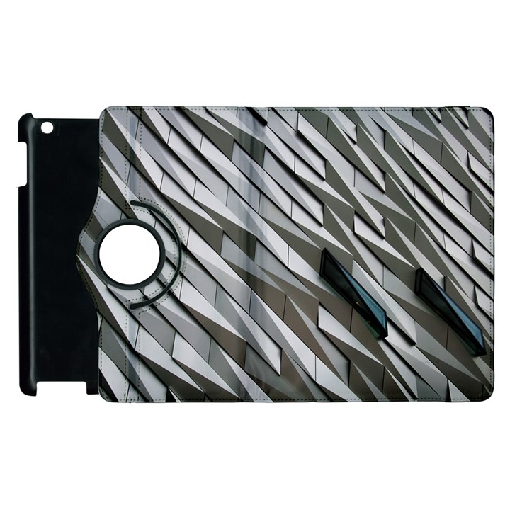 Abstract Background Geometry Block Apple iPad 3/4 Flip 360 Case