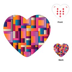 Abstract Background Geometry Blocks Playing Cards (heart)