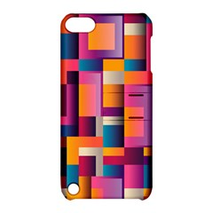 Abstract Background Geometry Blocks Apple Ipod Touch 5 Hardshell Case With Stand by Amaryn4rt