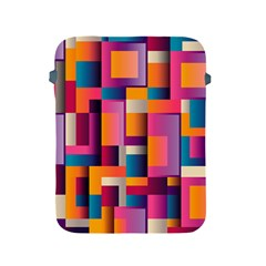 Abstract Background Geometry Blocks Apple Ipad 2/3/4 Protective Soft Cases by Amaryn4rt