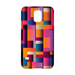 Abstract Background Geometry Blocks Samsung Galaxy S5 Hardshell Case