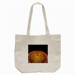 Abstract Blur Bright Circular Tote Bag (cream)
