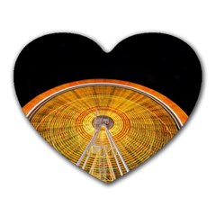 Abstract Blur Bright Circular Heart Mousepads by Amaryn4rt