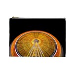 Abstract Blur Bright Circular Cosmetic Bag (Large)  Front