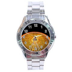 Abstract Blur Bright Circular Stainless Steel Analogue Watch