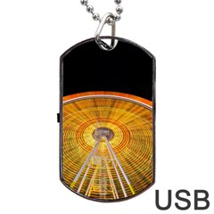Abstract Blur Bright Circular Dog Tag Usb Flash (one Side)
