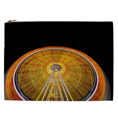 Abstract Blur Bright Circular Cosmetic Bag (xxl)  by Amaryn4rt
