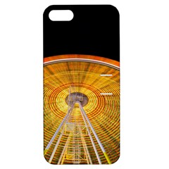 Abstract Blur Bright Circular Apple Iphone 5 Hardshell Case With Stand