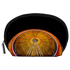 Abstract Blur Bright Circular Accessory Pouches (large)