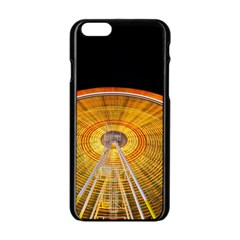 Abstract Blur Bright Circular Apple Iphone 6/6s Black Enamel Case by Amaryn4rt