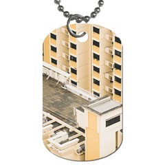 Apartments Architecture Building Dog Tag (two Sides) by Amaryn4rt